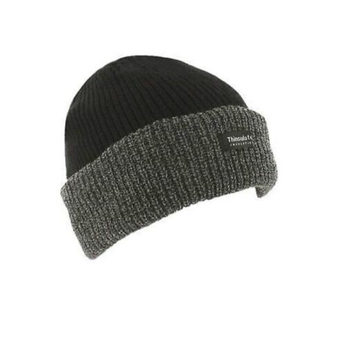 Mens Knitted  insulate Warm Winter Wooly Outdoor Chunky Hat Thermal Beanie Ski