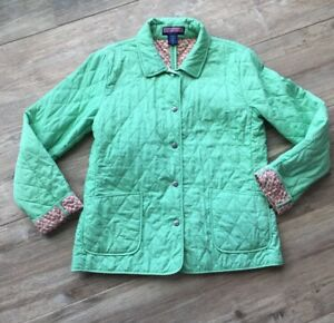 171 Vineyard Vines Womens Size L Green Quilted Turtle