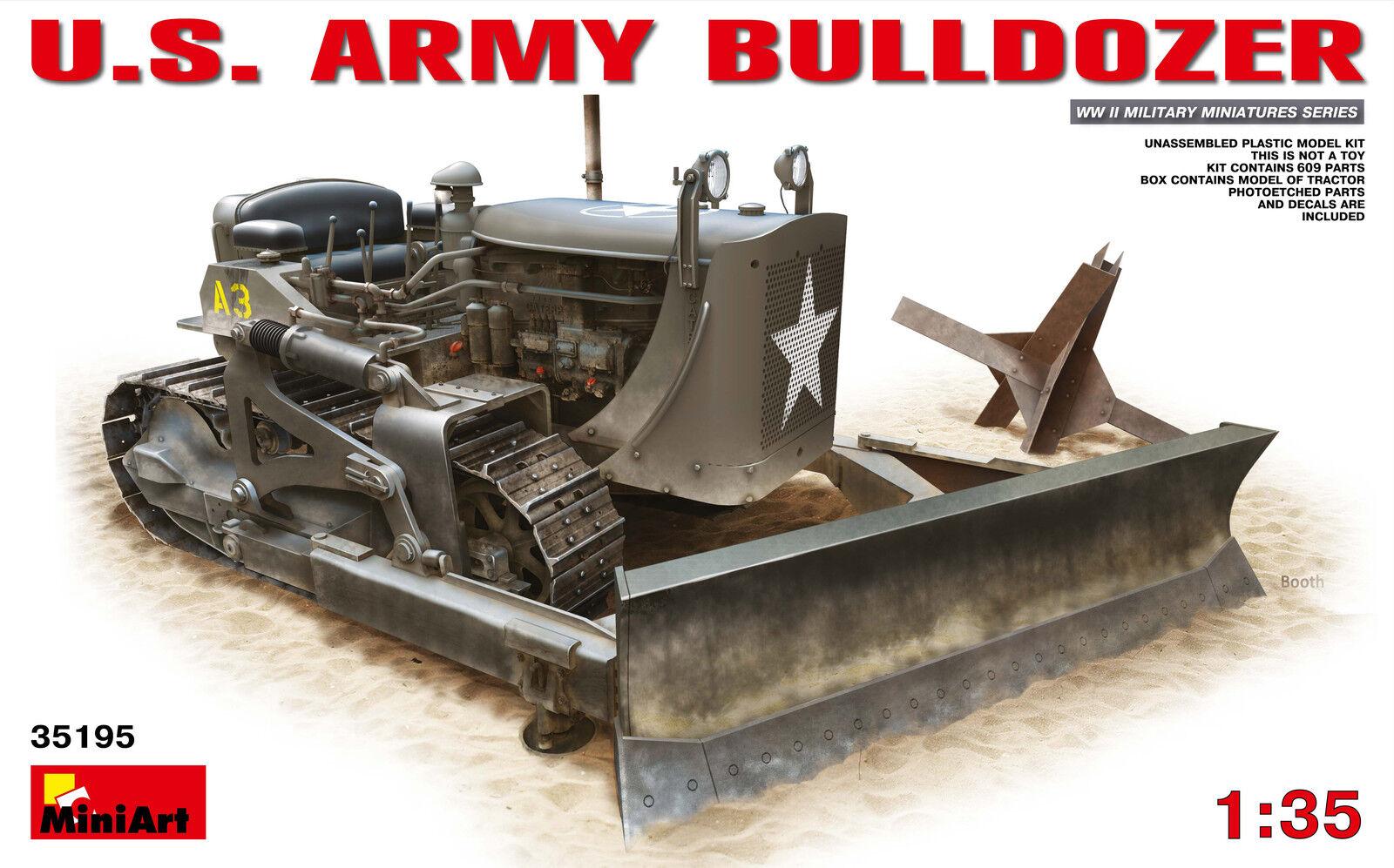 Miniart 1 35 - US Army Bulldozer Plastic Model Kit