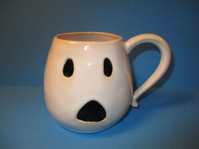 d4a63b01730 NEW Pottery Barn GHOST FIGURAL Ceramic COFFEE MUG HALLOWEEN WHITE Casper