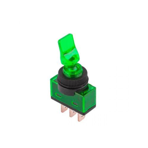 Interrupteur va et vient 1 polig illuminé rouge jaune vert bleu environ Kipp balancent Commutateur 12 V