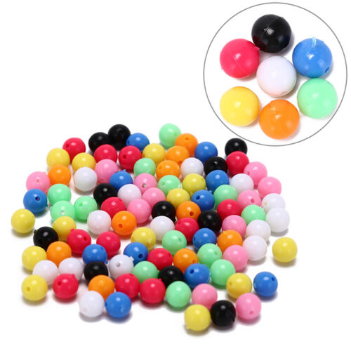 100x round fishing rig beads sea fishing lure floating float tackles 6//8mm  GQ