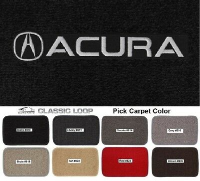 Choose Color /& Logo Acura Vehicles 4pc Velourtex Carpet Floor Mat Set