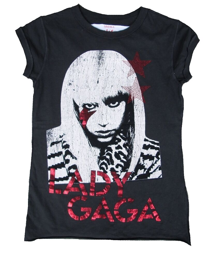 AMPLIFIED LADY GAGA Strass Rock Star Vintage Designer ViP WoW T-Shirt S 36 38