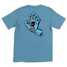 Santa Cruz SCREAMING HAND Skateboard T Shirt CAROLINA BLUE XL