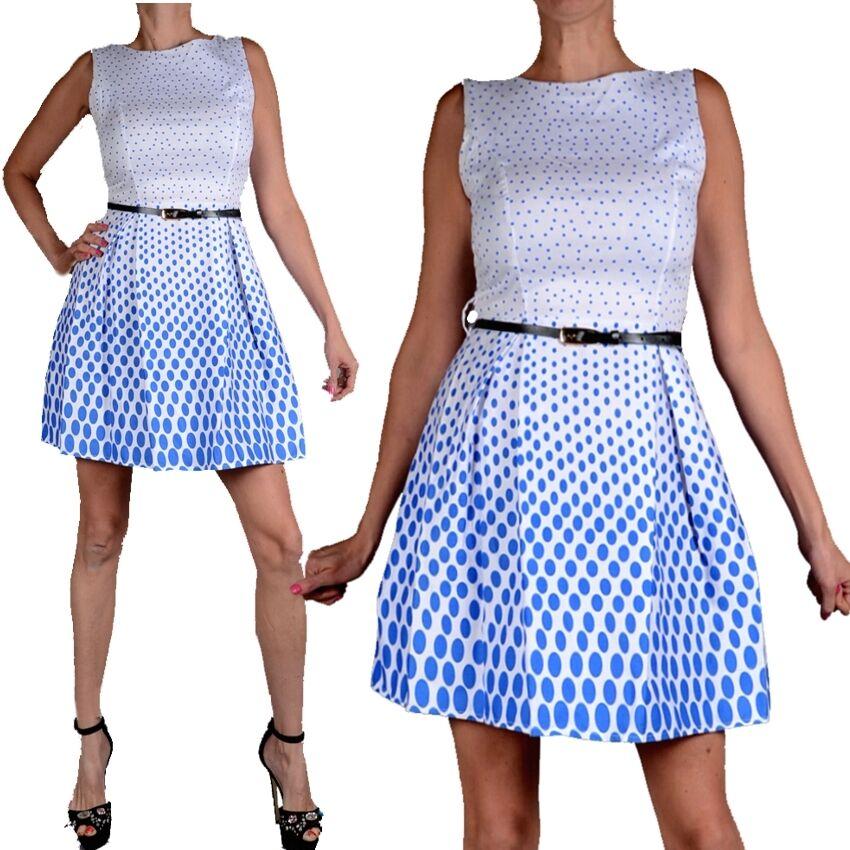 Monaco robe d'été Cocktail soirée fête club club fête 34 36 38 40 xs s m l blanc bleu 1ba190