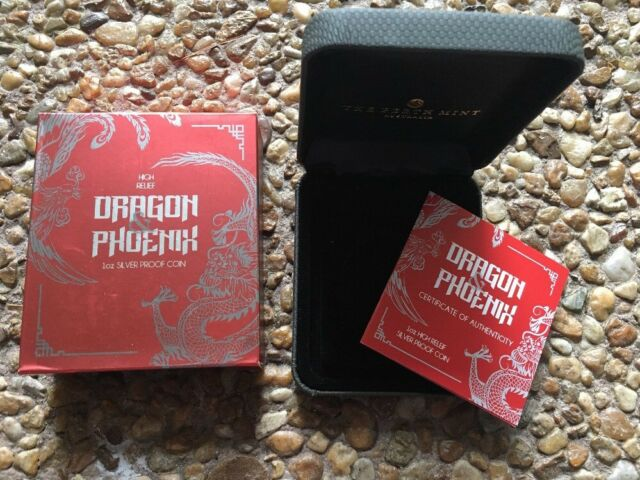 2017 Dragon & Phoenix High Relief Packaging ( OGP Only ) No Coin