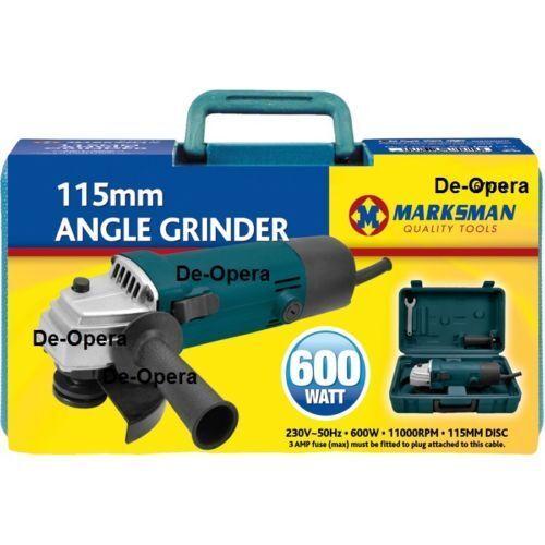 "Angle Grinder 600W 115mm 4.5"" Metal Stone Cutting Grinding Machine 240v Marksman"