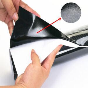 152-20cm-Nero-5D-Ultra-Lucido-Gloss-Lucido-in-Fibra-di-Carbonio-Vinile-Avvolgere-Adesivo