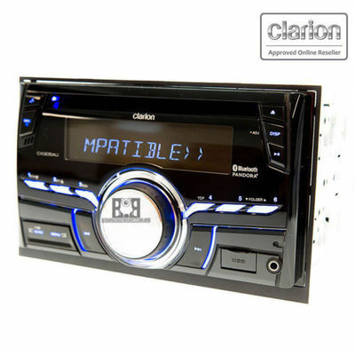 Clarion Cx305au Double Din Bluetooth Bt Cd Mp3 Ipod Car Stereo Audio Source Unit