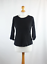 New-Look-Womens-Size-10-Black-Plain-Cotton-Basic-Tee thumbnail 2
