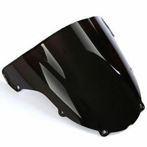 Bulle-double-courbure-KAWASAKI-ZX6R-2003-2004-03-NOIR-WINDSCREEN-BLACK