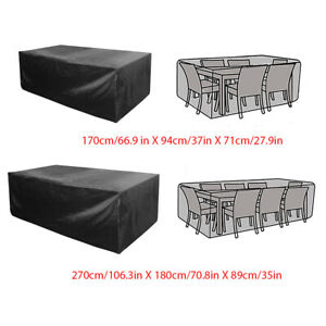 Waterproof-Garden-Patio-Furniture-Covers-Rectangle-Outdoor-Table-Rain-Cover-New
