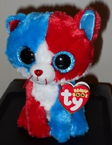 8b889b1678d Image is loading Ty-Beanie-Boos-FIRECRACKER-the-Patriotic-Cat-6-