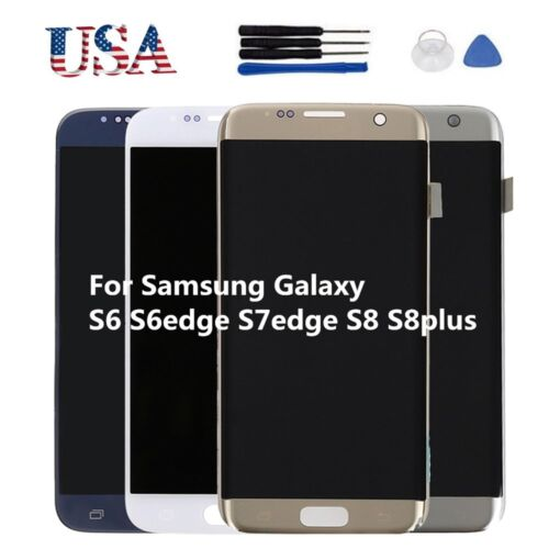 LCD Display Screen Digitizer Replacement for Samsung Galaxy S8 Plus S7 S6 edge+