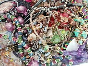 Vintage-to-Now-Estate-Jewelry-Lot-1lb-All-Wearable-No-Junk