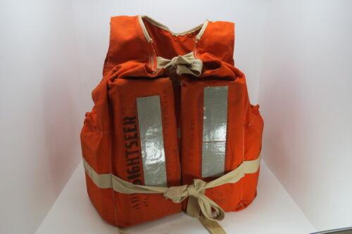 1960s CLOTH /& BALSA WOOD LIFE  PRESERVER FLOAT BUOY BOUY JACKET DECOR