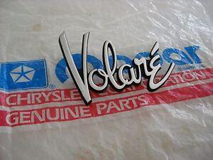 NOS-MOPAR-1976-80-VOLARE-FENDER-NAMEPLATE-4022684
