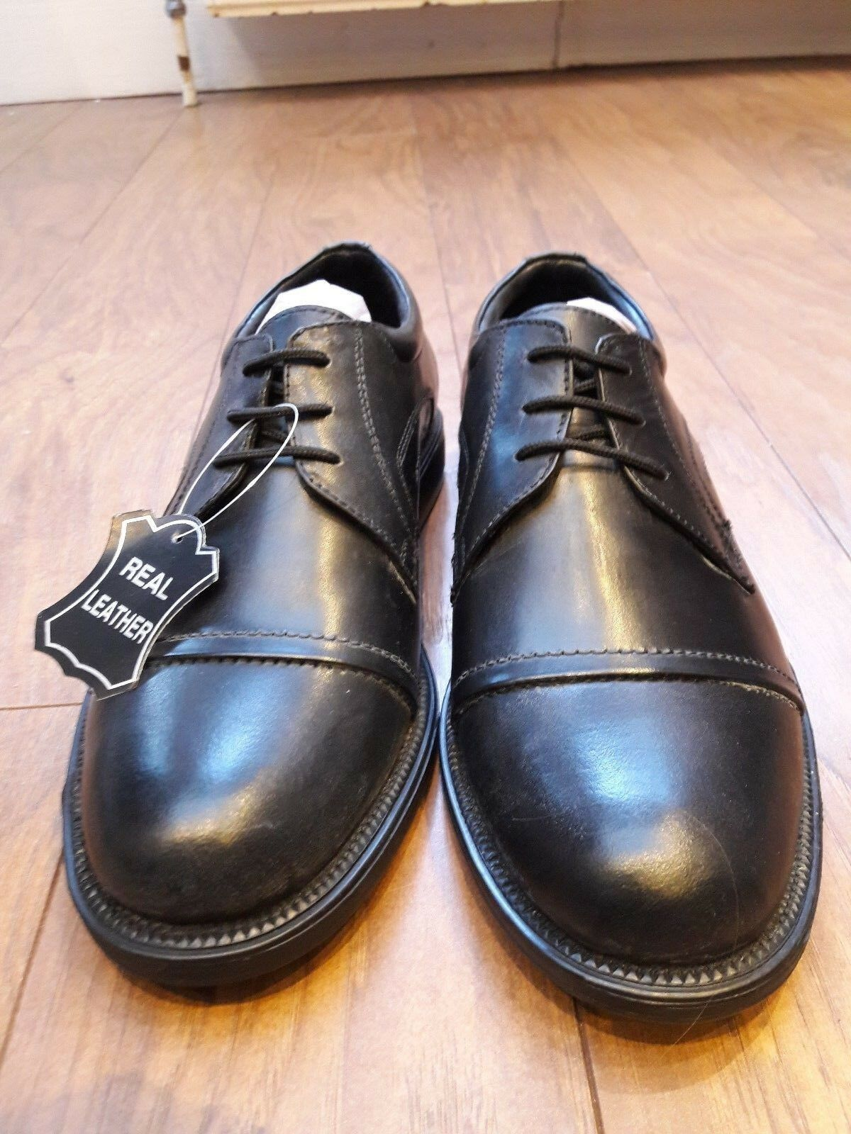 Luca Puccini black leather shoes