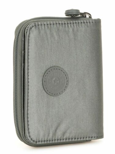 kipling Basic Plus Eyes Wide Open Money Power Medium Wallet Metallic Stony