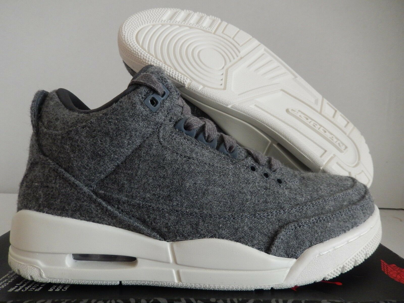 NIKE AIR JORDAN 3 RETRO WOOL gris SZ 7.5