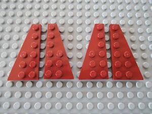 LEGO 4 X AILE plaque 54383 54384 rouge foncé = 2 Paire 6x3  </span>