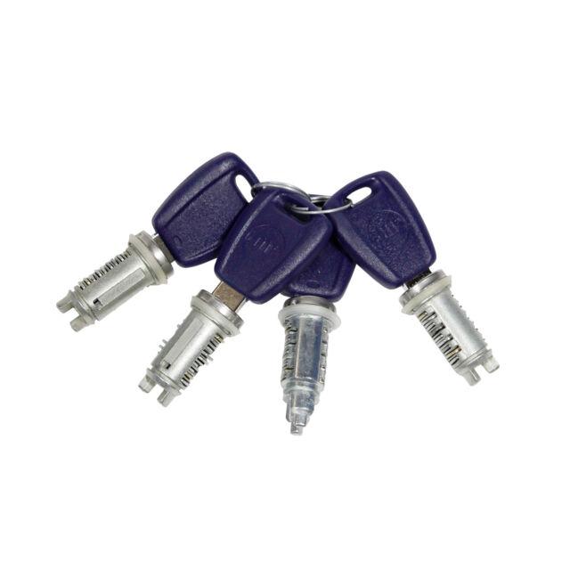 Cilindro de Cerradura Cerradura de Puerta 4 Piezas 4 Llave Fiat Doblo 119 223