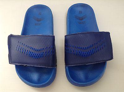 Próxima Boys Blue piscina playa deslizadores Sandalias Ojotas Velcro Talla UK10
