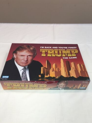 DONALD TRUMP I'M BACK AND YOUR FIRED TRUMP THE GAME BOARDGAME by Parker Brothers