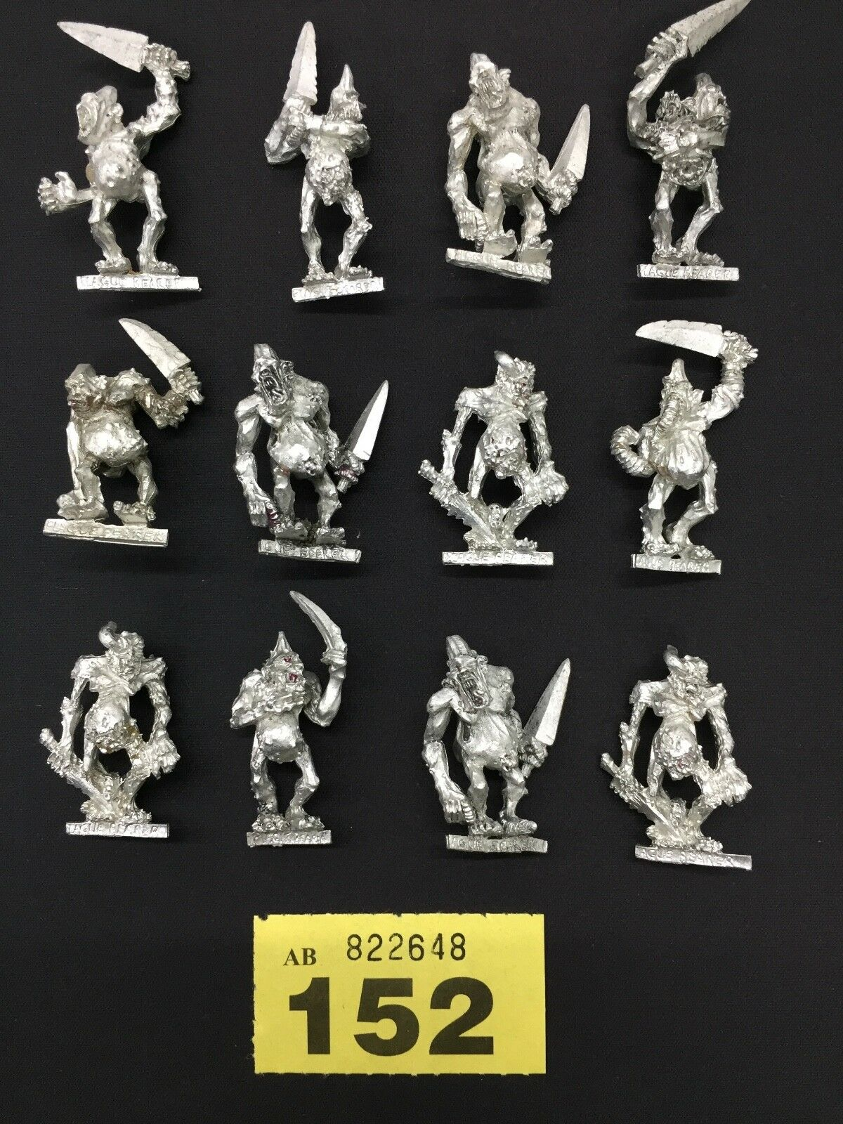 WARHAMMER AGE OF SIGMAR CHAOS REALM OF CHAOS PLAGUEBEARERS OF NURGLE 2001 METAL