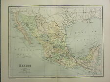 1904 Antiguo Mapa ~ mexico ~ zacatecan Oaxaca Chiapas La Baja California