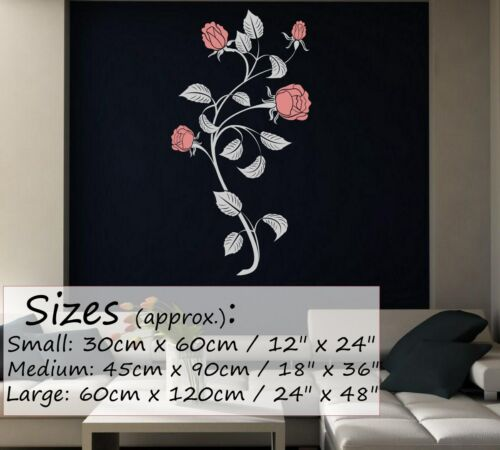 Elegant Perfect Roses wall transfer doors window wall stickers decal 45cm x 90cm