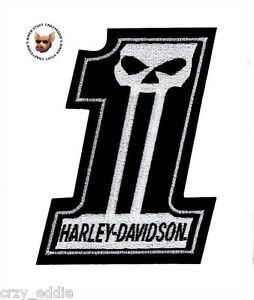 harley davidson number 1 skull vest patch med made in usa dark rh ebay com harley 1 logo meaning harley 1 logo