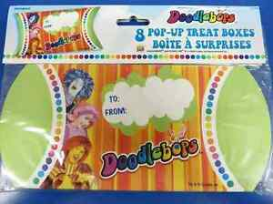 Details about RARE Doodlebops Playhouse Disney TV Show Kids Birthday Party  Favor Treat Boxes
