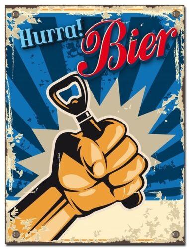 Blechschild Bier 30 x 40 cm B-Ware Schild Kneipe  Bar Retro Vintage Shabby