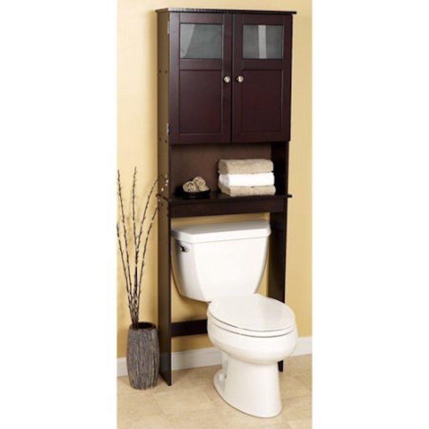 Zenna Home Over The Toilet Bathroom Spacesaver Storage Glass Windows Espresso