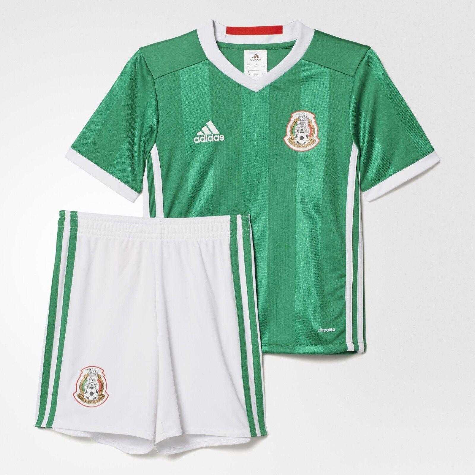 0b4a37f0a KIT BOYS KIDS ADIDAS NATIONAL TEAM SHORTS SOCCER MEXICO JERSEY ...