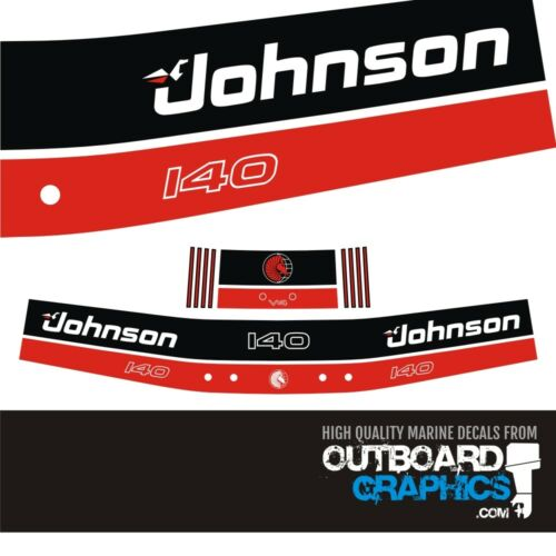 Johnson 140hp two stroke outboard engine decals//sticker kit