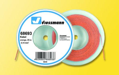 Viessmann 68693 cavo su abrollspule 0,14 qmm ARANCIONE 25 M