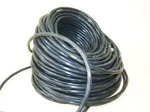 1m-altes-Alukabel-schwarz-Stromkabel-4x2-5-gedreht-AP-Bakelit-Schalter-Steckdose