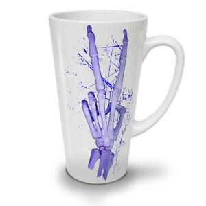 Skeleton Peace Cool NEW White Tea Coffee Latte Mug 12 17 oz | Wellcoda