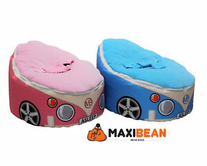 Image Is Loading Baby Bean Bag Adjustable Harness Kids Toddler Chair