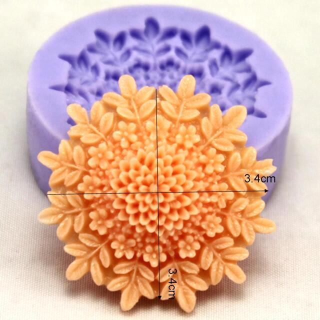 Chrysanthemum Silicone Fondant Mould Cake Decorating Craft Clay Chocolate Moulds