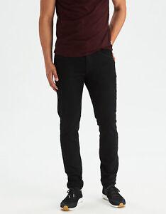 American Eagle Outfitters Ae Extreme Flex Slim Taper Jean Black Stretch 32x36 Ebay