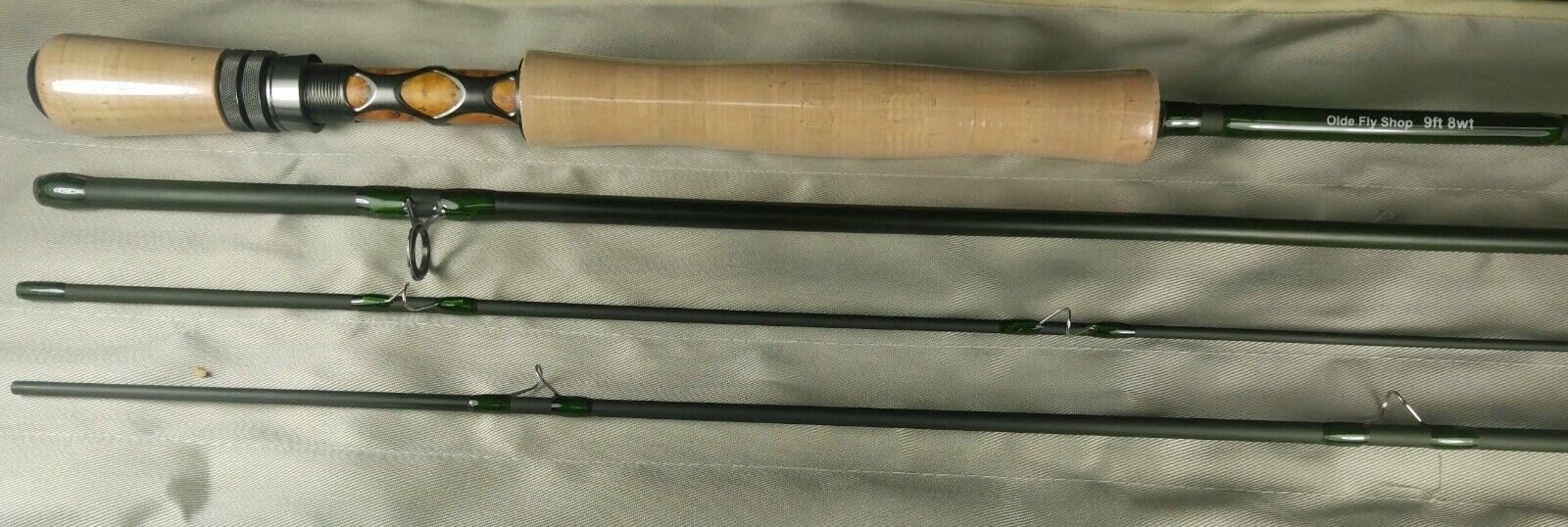 Rod Building Kit IM-8 Graphite Fly Rod Blank 9 ft (environ 2.74 m) 8WT 4PC mat vert (Gunmetal)