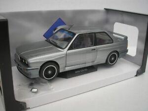 BMW-M3-E30-1990-Silver-Metallic-1-18-Solido-1801506-New