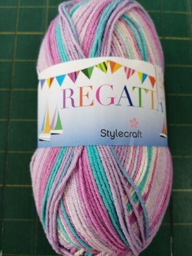 100g bolas de nuevos Stylecraft Regatta 74/% Algodón DK Tejer//Hilo De Ganchillo