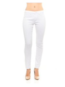 Red Jeans Women's Casual Mid Rise Stretchy Denim Pants - White - Size 18