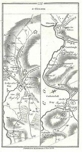 Antique-map-Roads-from-Londonderry-to-Glenarm-2-Newtown-Limavady-to-Newferry