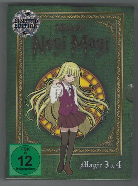 Magister Negi Magi Box 2 - Magic 3&4 DVDs Set deutsch Limited Edition Anime ++